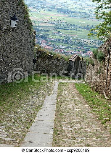 steep stone avenue to the shrine of St. Margaret of Cortona - csp9208199