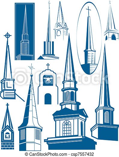 Steeple Collection - csp7557432