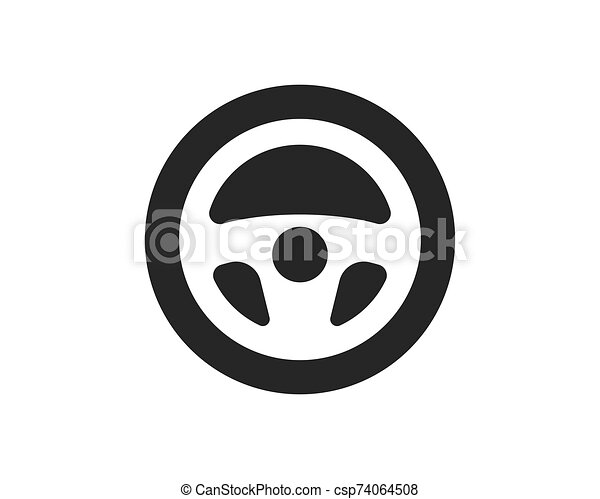 steering wheel logo icon vector illustration design can stock photo