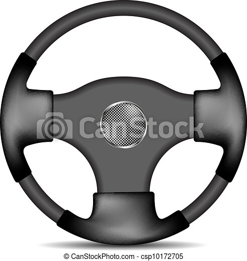 steering wheel in black and white design isolated on white vector rh canstockphoto com free ship steering wheel clip art steering wheel clip art free