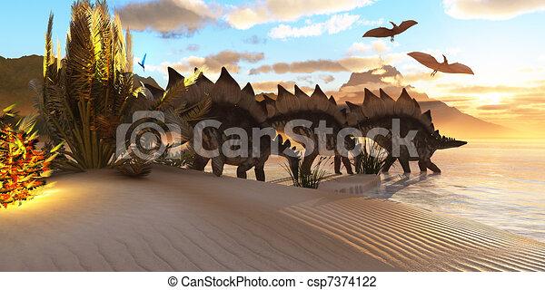 Stegosaurus Dinosaur - csp7374122