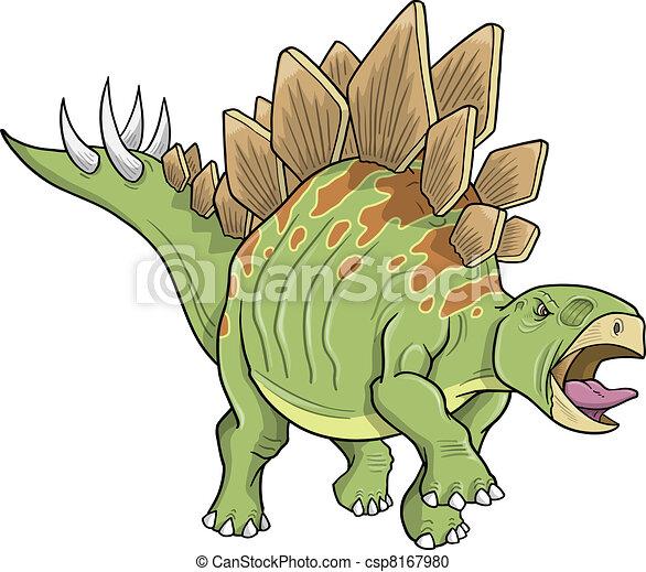 Stegosaurus Dinosaur Vector art - csp8167980