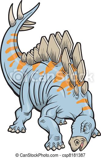 Stegosaurus Dinosaur Vector - csp8181387