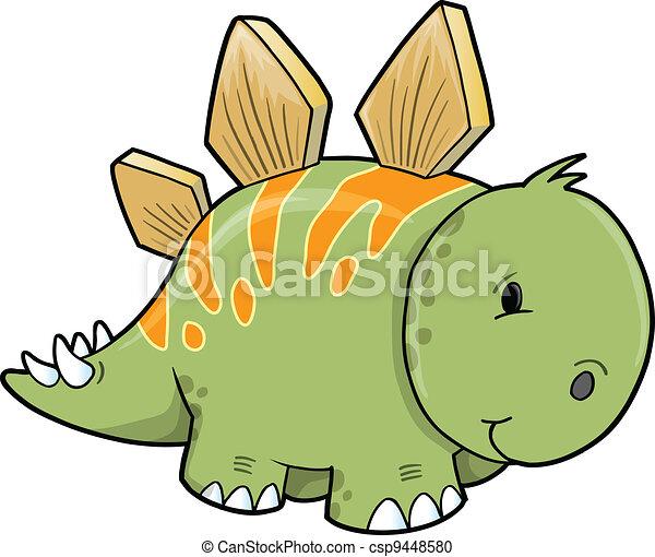 Stegosaurus Dinosaur Vector  - csp9448580