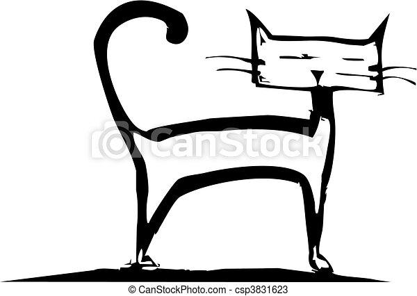 Stehende Katze - csp3831623