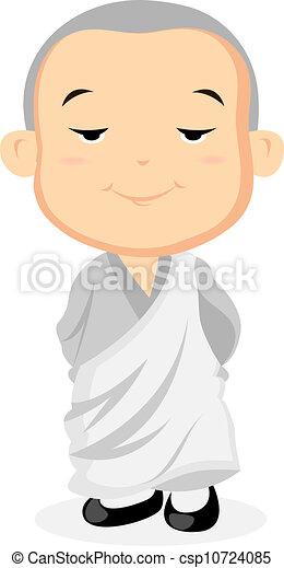 Monk steht - csp10724085