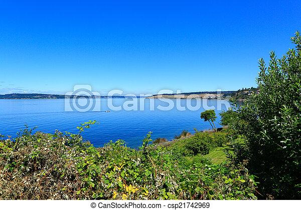 Steilacoom beach park. Washington state - csp21742969