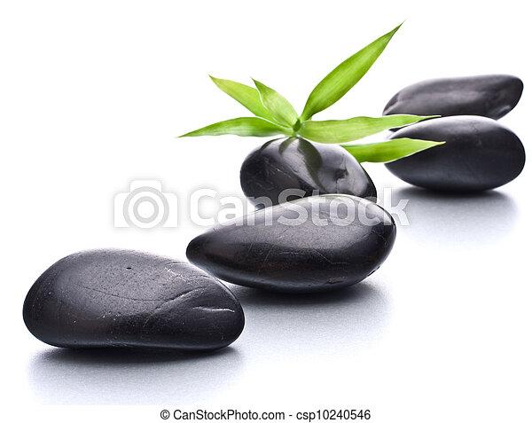 stein, concept., zen, pebbles., healthcare, spa - csp10240546