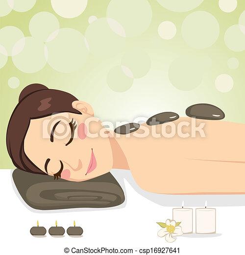 stein, entspannend, massage - csp16927641