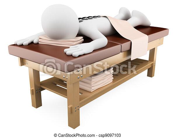 3D-Frau erhält eine Massage aus heißen Steinen - csp9097103