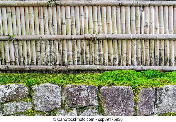 Stein, grüne blätter, zaun, bambus Stockfotos - Suche Fotografien ...