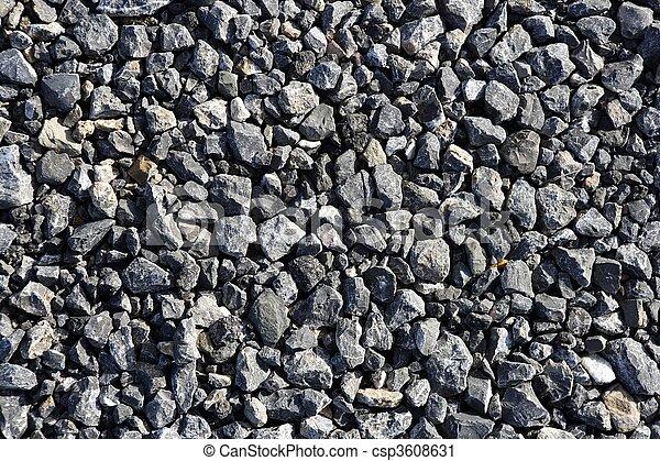 stein, kies, mischling, graue , gewebe, beton, asphalt - csp3608631