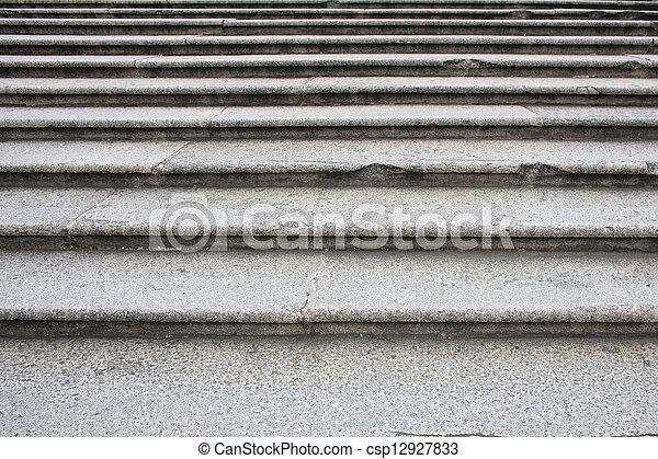 stein, schritte - csp12927833