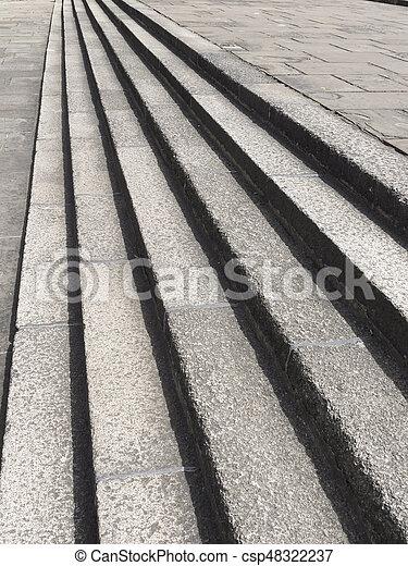 stein, schritte - csp48322237