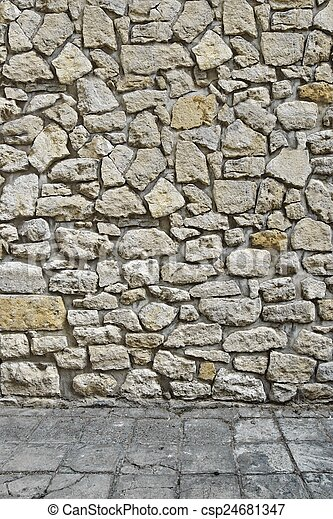 Steinboden, Wand, Außen, Daheim, 3d   Csp24681347