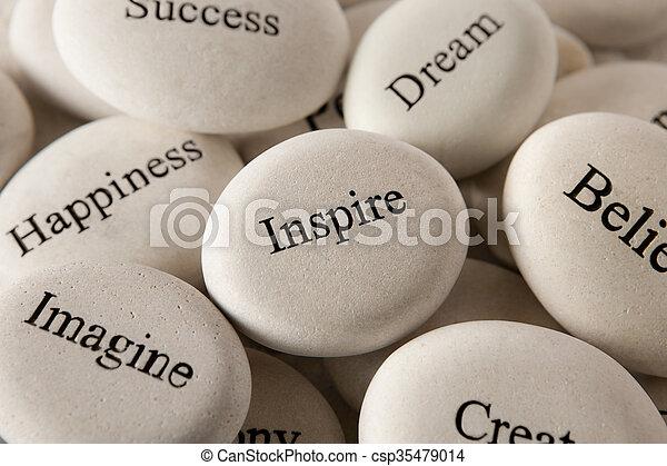 steine, -, eingeben, inspirational - csp35479014