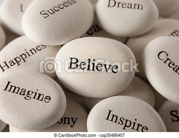 steine, glauben, -, inspirational - csp35486457