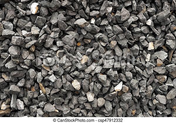 Steine, graue , stein, muster, -, zerquetscht, dunkel, grob, summe ...