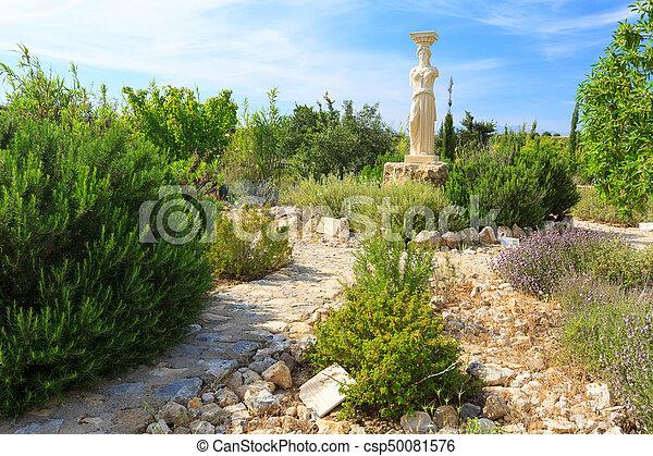 Steine, griechische göttin, kleingarten, statue. Bild - Suche Foto ...