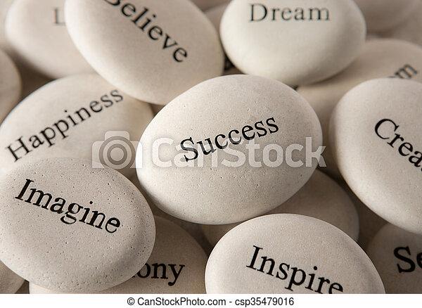 Inspirationssteine - Erfolg - csp35479016