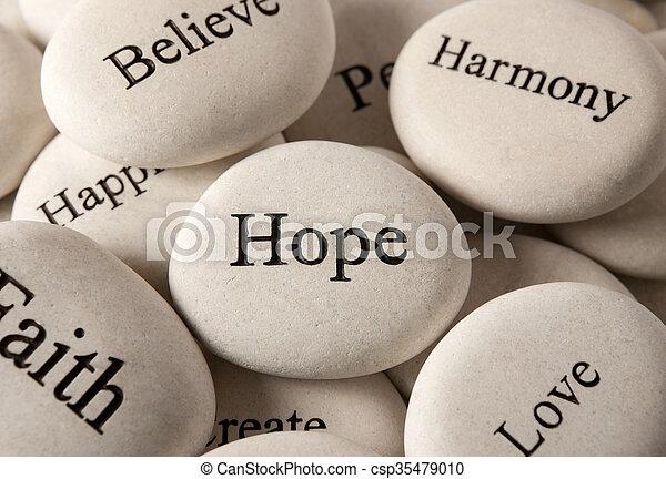 steine, -, inspirational, hoffnung - csp35479010