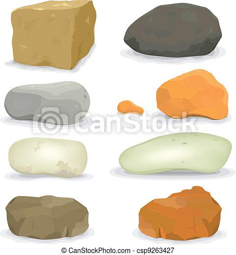 steine, steinen, satz - csp9263427