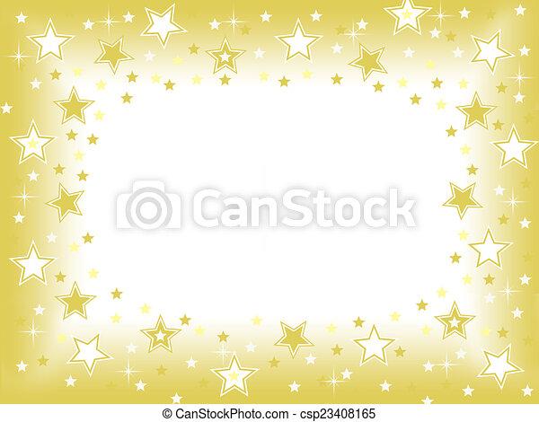 stella, oro, fondo - csp23408165