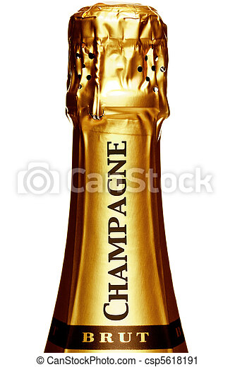 Stem of a Champagne bottle - csp5618191