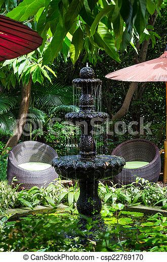 Strålande Sten, fontän trädgård. Sten, stil, fontän trädgård, klassisk. HI-04