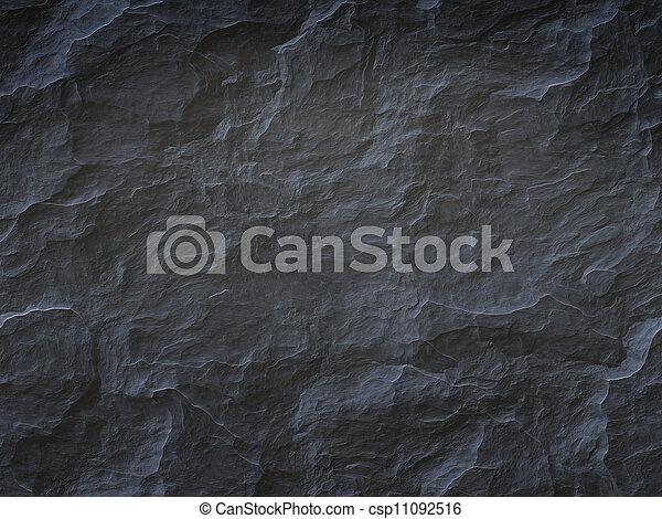 sten, svart fond - csp11092516
