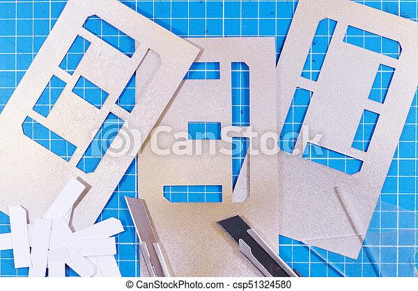 stencil numbers - csp51324580
