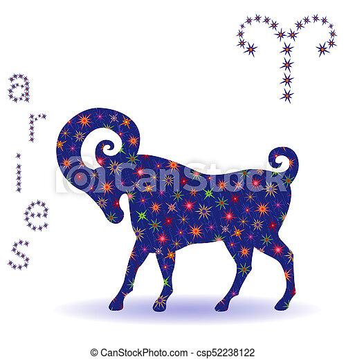 Stencil of Zodiac sign Aries