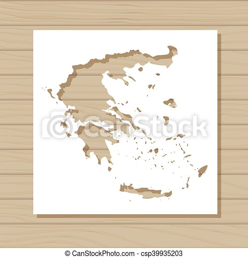 Vector stencil template of greece map on wooden background vector stencil template of greece map on wooden background csp39935203 gumiabroncs Images