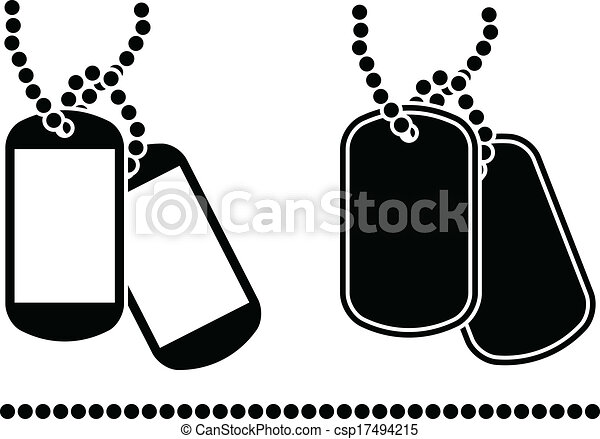 stencils of dog tags rh canstockphoto com dog tag clip art military free military dog tag clip art