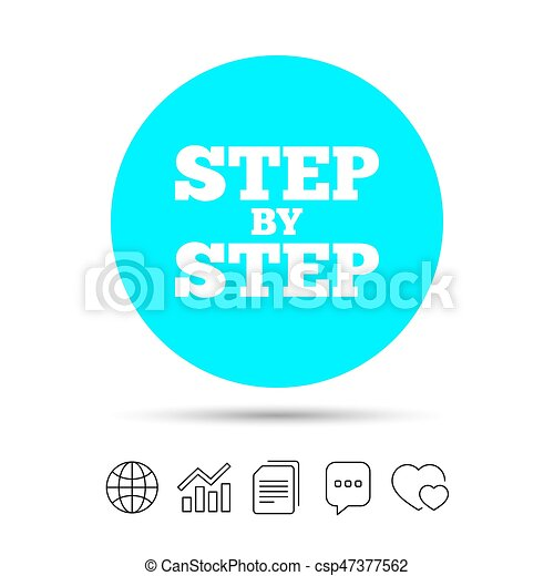 Step By Step Sign Icon Instructions Symbol Copy Files Chat Speech