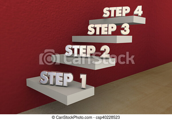 three steps to success clipart and stock illustrations 162 three
