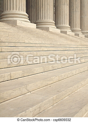 Steps and Columns at the Entrance of the United States Supreme Court in Washington DC - csp6609332