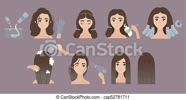 Steps to change hair color. Hair styling. Ombre