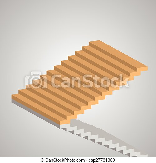 Steps to Success, stair vector, illustration - csp27731360