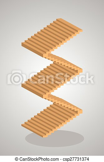 Steps to Success, stair vector, illustration - csp27731374