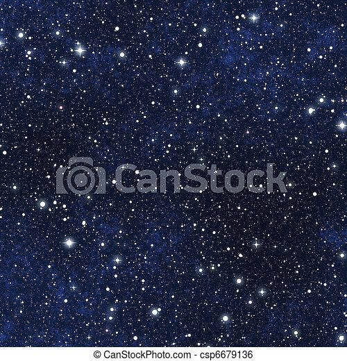 ster, hemel, gevulde, nacht - csp6679136