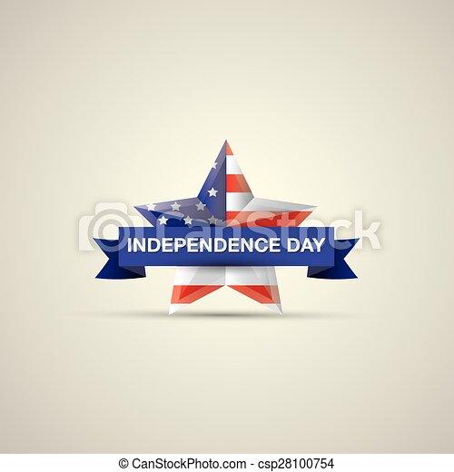 ster, nationale, kleuren, vlag, dag, onafhankelijkheid - csp28100754