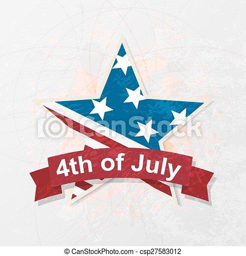 ster, nationale, kleuren, vlag, dag, onafhankelijkheid - csp27583012