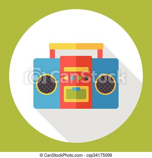 stereo electronics flat icon - csp34175099
