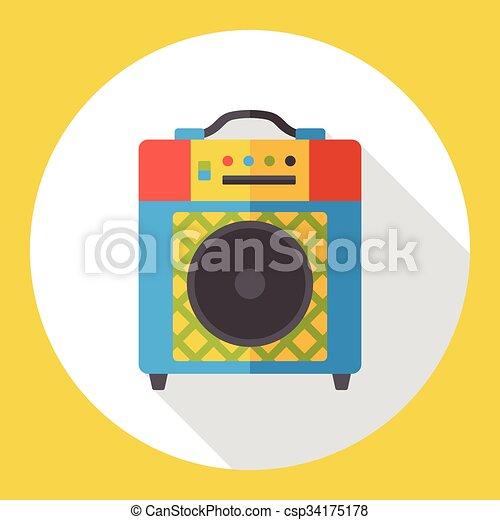 stereo electronics flat icon - csp34175178