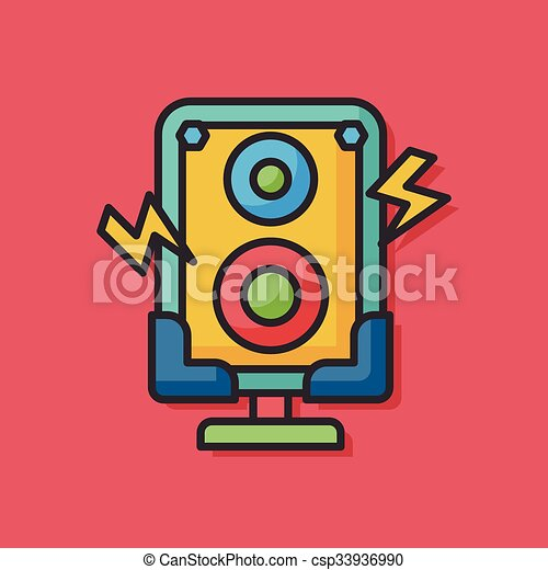 stereo equipment vector icon - csp33936990