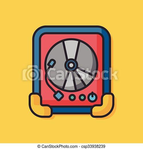 stereo equipment vector icon - csp33938239