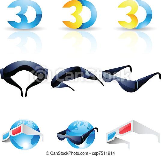 stereoscopic, anteojos de 3d - csp7511914