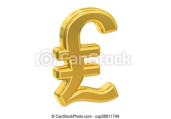 Sterling Rendre Symbole Livre 3d