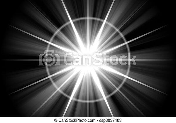 stern, abstrakt, sunburst, sonnenkollektoren - csp3837483